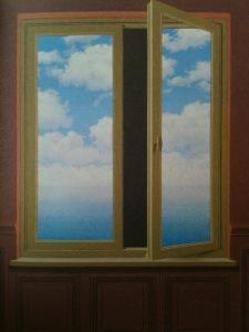 Fenêtre Rene Magritte
